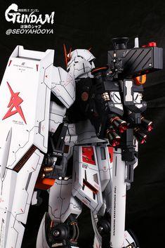 Neo Grade Nu Gundam - Customized Build Modeled by Seoyahooya Frame Arms, Gunpla Custom, Gundam Model, Mobile Suit, Plastic Models, Grade 1, Sci Fi, Japan, Robots