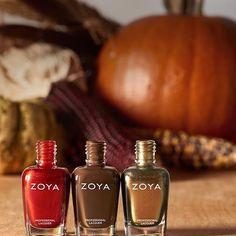 Zoya Nail Polish With three gorgeous shades #Zoya Ember #ZoyaDesiree And #ZoyaAggie  زويا #Embre و زويا #Desiree و زويا #Aggie من الألوان الرائعة و المناسبة لفصل الخريف  #ZoyaNailpolish #Zoya #NailArt #Nailpolish #Trendy #FAshion #Beauty #NailBar #NailSalon #Gcc #Kuwait #Qatar #KSA #Oman #Bahrain #UAE