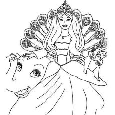 Barbie In A Mermaid Tale Coloring Pages Merliah Baby Mermaid