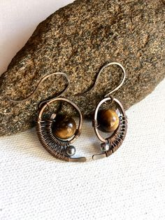 A personal favorite from my Etsy shop https://www.etsy.com/listing/481423910/copper-wire-wrapped-earrings