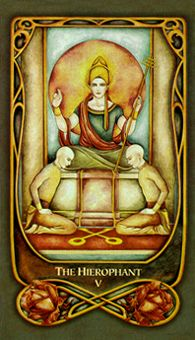 March 26 Tarot Card: The Hierophant! (Fenestra deck) Use your inner knowledge to lead