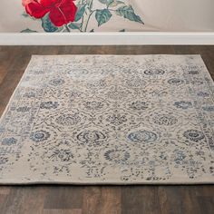 Traditional Medallion Vintage Style Rug on shadesoflight.com  #XH15030 1013BL  comes up to 10x13'  But does the pattern have to be washed out on the edge?