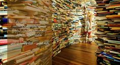 A pop-up art installation on London's South Bank is sure to attract a few literature lovers - having been built out of 250000 books Carl Sagan, Interactive Installation, Installation Art, Art Installations, Marie Y Pierre Curie, Good Books, Books To Read, Pop Up Art, Norfolk England