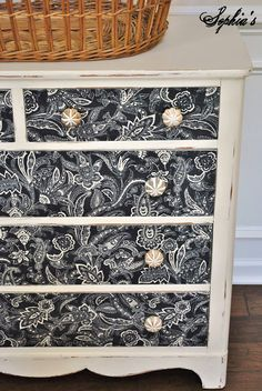 Sophia's Decor: Dresser Makeover with Fabric and Mod Podge