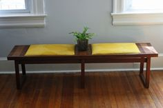 Upholstered Mid-Century Bench / $200