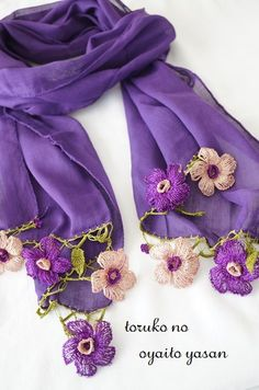 画像2: ★SALE★*ふんわり軽やか♪お花のコットンストール* Knitted Shawls, Crochet Scarves, Crochet Shawl, Crochet Lace, Lace Flowers, Crochet Flowers, Pakistani Dresses Casual, Silk Crepe, Crochet Projects