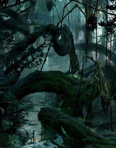 Death Fall - Avatar - Concept Art of Pandora by Seth Engstrom