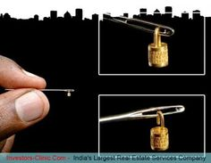 Smallest lock in the world!!  Mr. Ganesh Subramaniyam from Thiruvananthapuram Kerala, India, made a smallest gold code lock with a height of 3 mm, a circumference of 1 cm, and a weight of 41 mg. The code lock contains 3 lines of code number from 0 to 9. It sets the world record granted by the world Record Association for being the smallest gold code lock in the world.