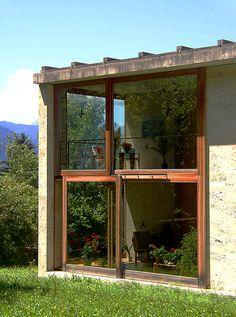 Peter Zumthor homes for senior citizens, in Masans near Chur in Graubünden, Switzerland
