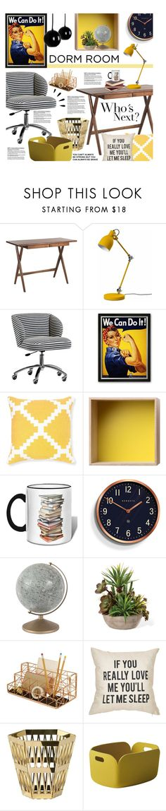 """""""Dorm Room"""" by ellergy ❤ liked on Polyvore featuring interior, interiors, interior design, home, home decor, interior decorating, PBteen, Selamat, Muuto and Newgate"""