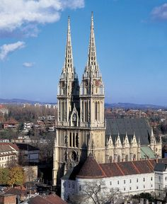 The Zagreb Cathedral on Kaptol is a Roman Catholic institution and the tallest building in Croatia. It is dedicated to the Assumption of Mary and to kings Saint Stephen and Saint Ladislaus. The cathedral is typically Gothic, as is its sacristy, which is of great architectural value. Its spires can be seen from many locations in the city.