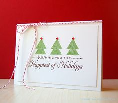Christmas Trees Card by Cristina Kowalczyk for Papertrey Ink (September 2012)