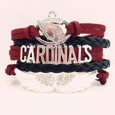 NFL Arizona Cardinals Football Team Bracelet