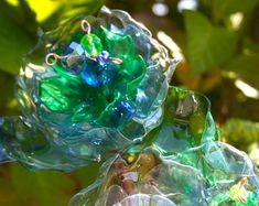 Recycled Plastic Bottle Garden Art #PlasticsInTheGarden