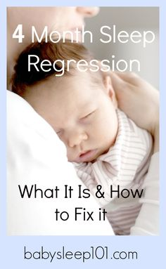 Has your baby hit the 4 month sleep regression? Get advice here on how to deal with it! Also visit http://www.babysleep101.com/ to get your FREE sleep guide.
