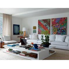 Bom dia!! Amei essa sala por Dado Castello Branco!! Super alto astral! #designdecor #design #decor #decoração #interiores #interiordesign #homedecor #arquitetura #architecture