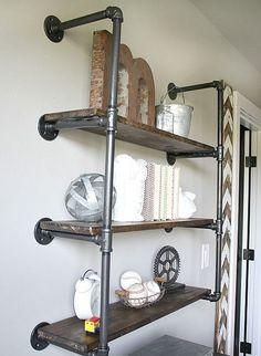 Borudan raf fikirleri hem depolama alanınızı çoğaltmak hemde dekoratif amaçlı şıklık vermek açısından güzel bir seçenek olacaktır.