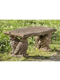 Owl Bench - More @ Garden Fountains & Outdoor Decor link @ www.greenearthdealsonline.com