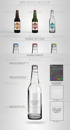 Beer Bottle Mock-Up - Food and Drink Packaging