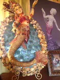 Treasures of the Gypsy showroom-mermaid created by Arley Berryhill Gypsy Caravan, Making Ideas, Art Dolls, Illustrators, Doll Clothes, Fairy Tales, Beautiful Mermaid, Princess Zelda, Artists