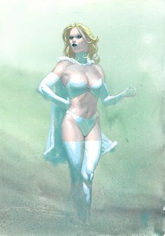 Emma Frost as the Hellfire Queen by Esad