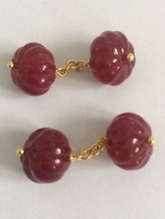 Vintage  Ruby double chain link cuff links - Catawiki