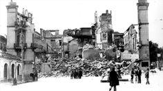 La casa del marques de Larios de Málaga, tras ser destruída por los «rojos» el 12 de febrero de 1937