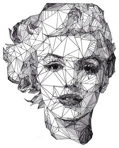 Marilyn Monroe & her face geometric sophistication