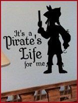I would love to one day have a child that loves pirates enough to have a room like these!