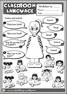 Bilderesultat for classroom language English Primary School, Kids English, English Classroom, Classroom Language, English Lessons, Learn English, English Activities For Kids, English Teaching Resources, English Worksheets For Kids