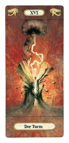 XVI - The Tower by AEDICULA-ARCANORUM Reinhard Schmid tarot card paintings