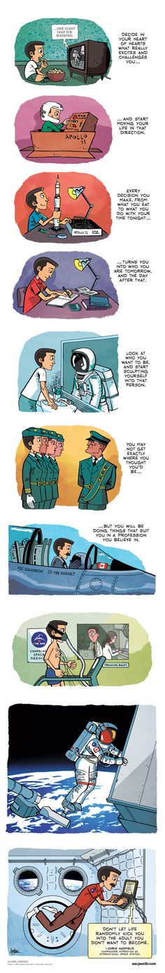 ZEN PENCILS: An astronaut's advice.  Link to Concept 5, Level 5.