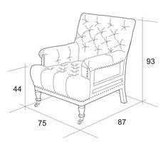 Мягкое кресло своими руками чертеж