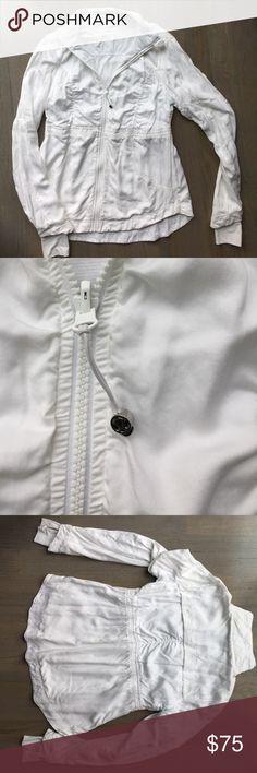 Lululemon jacket zippy white size 10 Lululemon jacket zippy white size 10 lululemon athletica Jackets & Coats