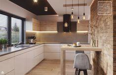 Nowoczesne wnetrze kuchni i salonu - zdjęcie od Kwadrat Design Studio - Kuchnia - Styl Nowoczesny - Kwadrat Design Studio