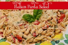 New favorite pasta salad for the summer - fast and easy to make, and delicious!