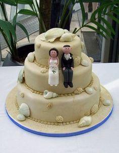 Beach Themed Seashell Wedding Cake Thedeep