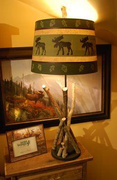 Moose-twig-lamp found at Rustic Lodge Furniture | Lighting