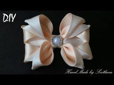 Бантики из лент КАНЗАШИ DIY Bows made of ribbon Kanzashi Laço de Cetim Curva da fita 6 - YouTube