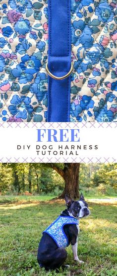 Use this free DIY tutorial and a favorite fabric to make a custom harness  for your 1daddddd0
