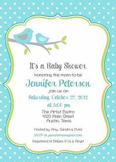 Baby Shower Invitation  Bird Mom for Boy DIY by BellePrintables, $12.50