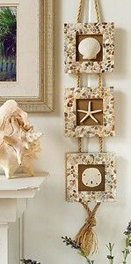 Craft Ideas : Projects : Details : seashell-mosaic-trio