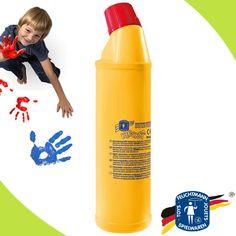 #Feuchtmann #Klecksi #Fingerfarben gibts bei uns auch in großen Flaschen!  - Völlig unbedenklich, hergestellt aus kindgerechten Inhaltsstoffen und bestens allergikergeeignet. #matches21 | https://www.matches21.de/spielen-basteln/spielzeug/malfarben-fingermalfarben/