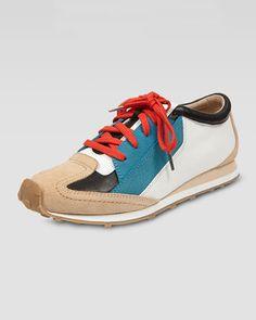 Elizabeth and James | Colorblock Leather Sneaker - CUSP