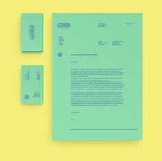 Personal branding & resume by Jonas Nullens, via Behance layout geel munt CV brief