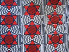 African ADIRE BATIK Fabric Cotton Tie Dye Print  Per Yard *36 by 49 inches*
