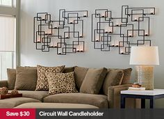 Circuit Wall Candleholder from Crate and Barrel. Saved to Epic Wishlist. Shop more products from Crate and Barrel on Wanelo. Living Room Decor Fireplace, My Living Room, Cottage Living, Metal Walls, Metal Wall Art, Crate And Barrel, Wall Candle Holders, Mirror Wall Art, Lounge Sofa