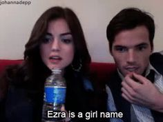 """Ezra is a girl's name"" (ustream)"