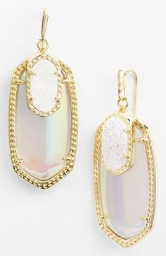 Kendra Scott 'Emmy' Drop Earrings at Nordstrom.com. Memorable color and metalwork enrich these drusy-accented drop earrings.