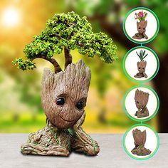 Shop for Multifunctional Groot PLANT POT: Can be used as a flowerpot,also can be used as a pencil holder, can also a decoration. Groot Action Figures Pen Holder:Perfect creative design can be placed on your desk. Fern Flower, Flower Vases, Flower Pots, Groot Figurine, Ceramic Planters, Planter Pots, Rustic Planters, Decorative Planters, 3d Zeichenstift